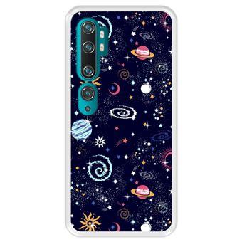 Capa Tpu Hapdey para Xiaomi Mi Note 10 - Note 10 Pro - Cc9 Pro   Design Padrão de Constelação   Galáxia 2 - Transparente