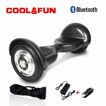 Hoverboard 10 CoolFun com Controlo Remoto e Bolsa Preto Carbono