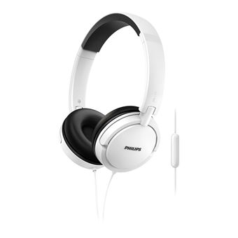 Auriculares Philips Extra Bass Cabo Jack 3.5 mm Branco