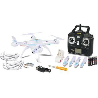 Carson X4 360 Quadcopter FPV 4rotores 500mAh Branco drone com câmara