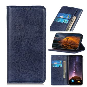 Capa Magunivers para Samsung Galaxy A31| PU |pele de cavalo louco auto-absorvida - Azul