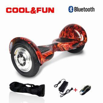 Hoverboard 10 CoolFun com Controlo Remoto e Bolsa Preto Chamas