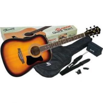 Guitarra Acústica Ibanez V50NJP-VS VINTAGE SUNBURST PACK