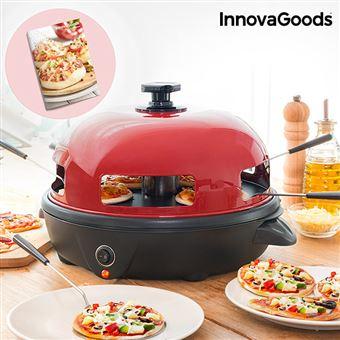 Forno para Mini Pizzas com Livro de Receitas Presto! InnovaGoods 700W Vermelho Preto