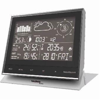 Estações meteorológicas digitais Technoline WS 1700 Preto Bateria