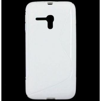 Capa Lmobile em Gel S Line para Alcatel One Touch Pop D5 Branco