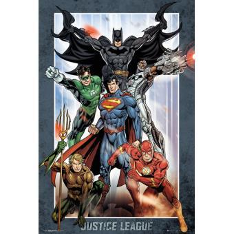 Maxi Poster GB Eye DC Comics Liga da Justiça Grupo 61 x 91,5 cm