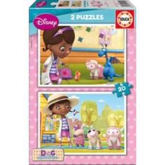 Puzzle Doctora juguetes 2x20 Peças