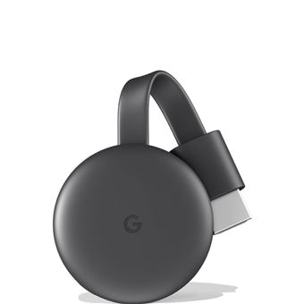 Google Chromecast conetor Smart TV Full HD HDMI Carvão