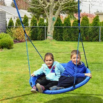 Baloiço de Criança HomCom para Jardim | Dobrável | Carga 100kg | Tecido de Oxford | 100x180 cm
