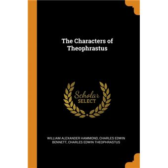 the Characters Of Theophrastus Paperback -