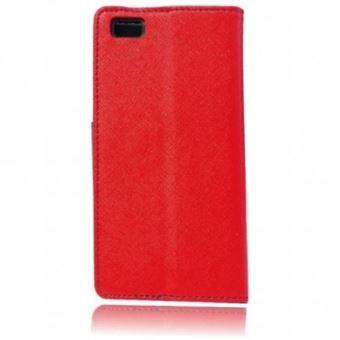 Capa Lmobile Flip Carteira Fancy para Huawei P8 Lite Vermelho