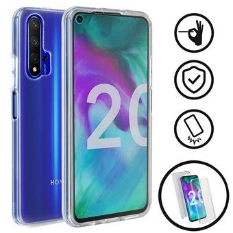 Capa de Silicone Avizar para Honor 20 e Huawei Nova 5T| 360º | Policarbonato | Transparente