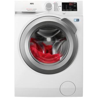 Máquina de Lavar Roupa AEG 914913435 Isolado Carregamento frontal 8kg 1200RPM A+++ Branco