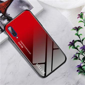 Capa Magunivers para Samsung Galaxy A50 e TPU Híbrido de Cor Gradiente Vermelho
