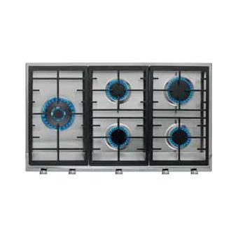 Placa de Cozinha a Gás Encastrável Teka EX 90.1 5G AI AL DR CI LEFT Nat Preto, Inox