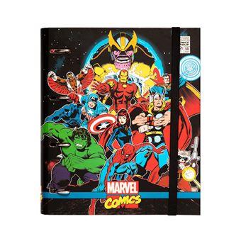 Pasta 4 Aneis Troquelada Premium Marvel Comics Avengers