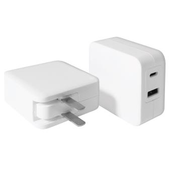 Carregador AC Macally Charger 24W (USB + USB-C) w/ cable