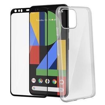 Pack Estrutura Traseira + Vidro Temperado Avizar para Google Pixel 4 XL - Preto