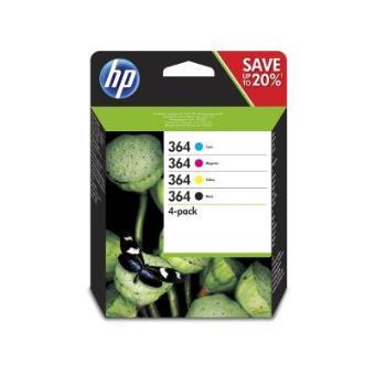 HP 364 Black/Cyan/Magenta/Yellow Original Ink Cartridges