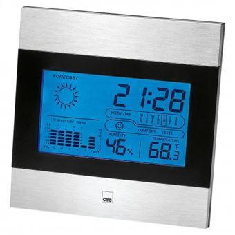 Estações meteorológicas digitais Clatronic WSU 7023 estação meteorológica digital Preto, Inox LCD Bateria