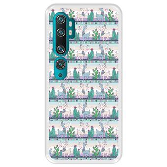Capa Tpu Hapdey para Xiaomi Mi Note 10 - Note 10 Pro - Cc9 Pro | Design Padrão de Lhama 2 - Transparente