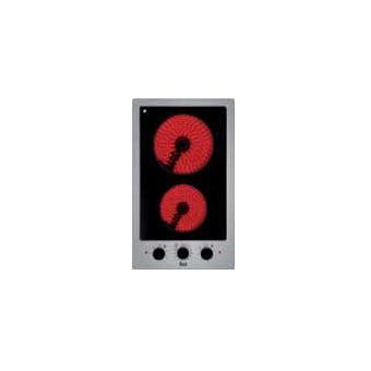 Placa de Cozinha Eléctrica Vitrocerâmica Encastrável Teka EFX 30.1 2H Preto, Inox