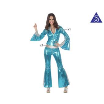 Disfarce Atosa Menina do Disco Azul do Macaco t-2