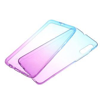 Capa Magunivers para Samsung Galaxy A50 e TPU Gradiente de Cor Destacável 2-Em-1 Azul/Roxa