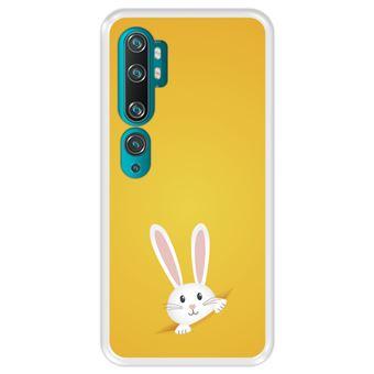 Capa Tpu Hapdey para Xiaomi Mi Note 10 - Note 10 Pro - Cc9 Pro   Design Coelhinho Da Páscoa - Transparente