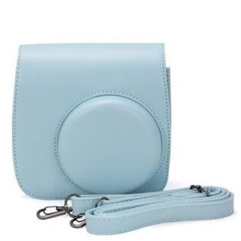 Capa de Couro protetora WISETONY para Fujifilm Instax Mini 8/8 + / 9 Azul claro