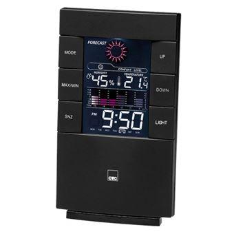 Estações meteorológicas digitais Clatronic WSU 7024 Preto LCD AC/Bateria