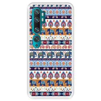 Capa Tpu Hapdey para Xiaomi Mi Note 10 - Note 10 Pro - Cc9 Pro   Design Padrão Tribal de Tapete Indiano 2 - Transparente
