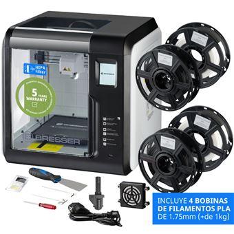 Pack Impressora 3D Bresser com WiFi, Cloud, Usb, Câmara e Ecrã Tátil + 2 Bicos de Extrusão + 4 Filamentos PLA