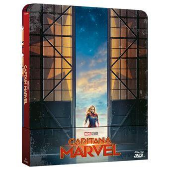 Captain Marvel 3D Steelbook / Capitana Marvel (Blu-ray)