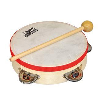 Voggenreiter Voggy?s kleines Tamburin Instrumento musical de brincar Pandeireta Vermelho e Madeira