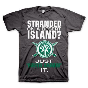 T-shirt Arrow - Just Green Arrow It | Cinzento Escuro | XXL