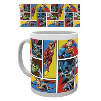 Caneca de Cerâmica GB Eye DC Comics Justice League Grid
