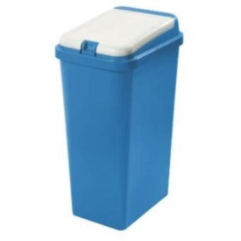 Caixote do Lixo Tontarelli Bido 45l Retangular Azul, Branco