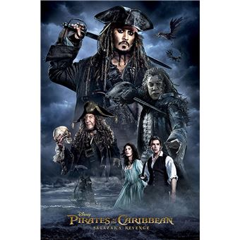 Poster Close Up Pirates Of The Caribbean 5 Pos Darkness 91,5 X 61 Cm