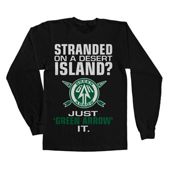 Long Sleeve Arrow - Just Green Arrow It   Preto   XL