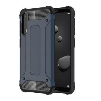 Capa magunivers TPU armadura de plástico azul escuro combo guard para Huawei P20 Pro