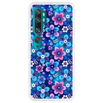 Capa Hapdey para Xiaomi Mi Note 10 - Note 10 Pro - CC9 Pro | Silicone Flexível em TPU | Design Teste padrão floral primavera - Transparente