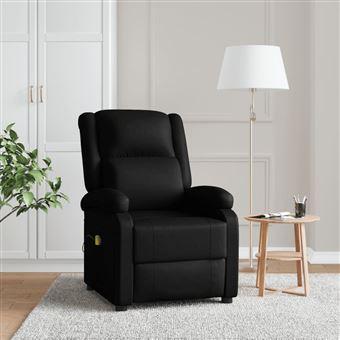 Cadeira de Massagem Vidaxl Couro Artificial Preto 77x90 cm