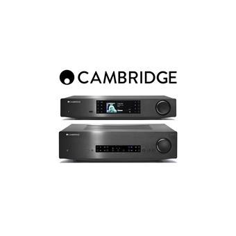 Amplificador Cambridge integrado CXA60 + Leitor de Música CXN (Preto)
