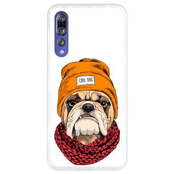 Capa Hapdey para Huawei P20 Pro - P20 Plus Design Buldog Hipster em Silicone Flexível e TPU