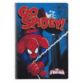 Caderno A4 80 Folhas Capa Dura Spiderman Go Spidey