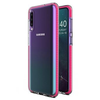 Capa HURTEL Spring para Samsung Galaxy A40 | Gel TPU com Marca - Rosa
