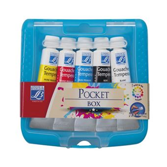 Blister 5 Tubos Guache LEFRANC&BOURGEOIS ED Color Pocket Box   10 ml