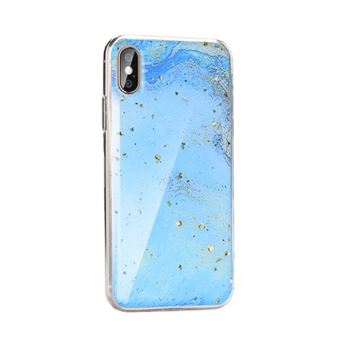 Capa Mármore Forcell para Huawei Y7 2019 Azul